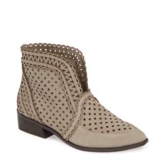 Cecelia New York tate perforated suede booties